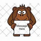 Ape Monkey with Sign ~  Cupcake Pick & Toppers ~ Set of 1 Dozen