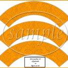 Ornate Orange ~  Cupcake Wrappers ~ Set of 1 Dozen