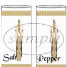 Cat - itude Tan  ~ Salt & Pepper Shaker Wrappers