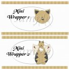 Cat - itude Tan ~ MINI Candy Bar Wrappers