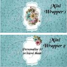 Touch of Blue ~ MINI Candy Bar Wrappers
