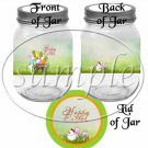 Easter Cart ~  Quart Glass Jar