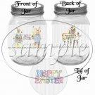 Hoppy Easter Country Bunny ~ Quart Glass Jar