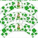 St. Patrick's Day Shamrock #1 Bear  ~  Cupcake Wrappers ~ Set of 1 Dozen