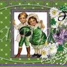 Vintage St. Patrick's Day  ~  Pint Glass Jar
