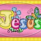 Jesus is Love Pink ~  Pint Glass Jar