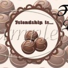 Chocolate Friendship ~  Pint Glass Jar