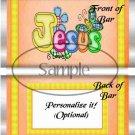 Jesus Is Love Orange ~ Standard 1.55 oz Candy Bar Wrapper  SOE