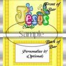 Jesus Is Love Yellow ~ Standard 1.55 oz Candy Bar Wrapper  SOE