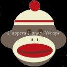 Sock Money Full Face ~  Cupcake Pick & Toppers ~ Set of 1 Dozen