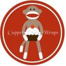 Sock Money Full Body Red ~  Cupcake Pick & Toppers ~ Set of 1 Dozen