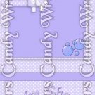 Caucasian Purple Baby Girl in Tub ~ Baby ~ MINI Matchbook Nail File COVER ONLY
