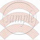 Route 66 Pink ~  Cupcake Wrappers ~ Set of 1 Dozen