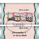 Route 66 Aqua  ~ Standard 1.55 oz Candy Bar Wrapper  SOE