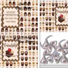 Friends With Chocolate ~ Treat Bag Topper 1 Dozen