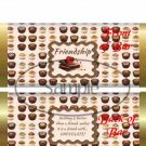 Friends With Chocolate ~ Standard 1.55 oz Candy Bar Wrapper  SOE