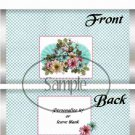 Aqua Checkered Floral ~ Standard 1.55 oz Candy Bar Wrapper  SOE