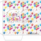 Party Balloons White  ~  Gift Card  Sleeves