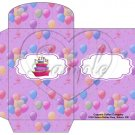 Party Balloons Purple  ~  Gift Card Envelope