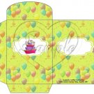 Party Balloons Lime  ~  Gift Card Envelope
