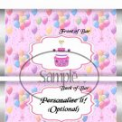 Party Balloons Pink ~ Standard 1.55 oz Candy Bar Wrapper  SOE
