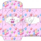 Party Balloons Pink ~  Gift Card Envelope