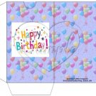 Party Balloons Periwinkle Blue  ~  Gift Card Sleeve