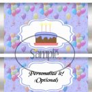Party Balloons Periwinkle Blue  ~ Standard 1.55 oz Candy Bar Wrapper  SOE