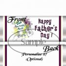 Dad You Rock! Purple & Green ~ Father's Day ~ Standard 1.55 oz Candy Bar Wrapper  SOE