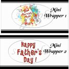 Dad You Rock! Red ~ Father's Day ~ MINI Candy Bar Wrappers