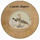 Pheasant in Flight ~ Father's Day ~  Cupcake Pick & Toppers ~ Set of 1 Dozen