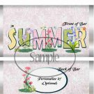 Summer Wild Flowers  ~ Standard 1.55 oz Candy Bar Wrapper  SOE