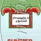 Summer Time Fun Watermelon ~ MINI Matchbook Nail File COVER ONLY