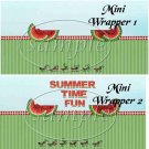 Summer Time Watermelon   ~ MINI Candy Bar Wrappers