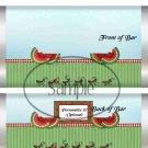 Summer Time Watermelon  ~ Standard 1.55 oz Candy Bar Wrapper  SOE