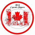 God Bless Canada #1 ~  Cupcake Pick & Toppers ~ Set of 1 Dozen