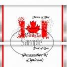 God Bless Canada #1  ~ Standard 1.55 oz Candy Bar Wrapper  SOE
