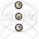 Polka Dot Floral Ladybug #2 ~ Cupcake Wrappers ~ Set of 1 Dozen