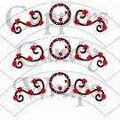 Scrolling Ladybug ~ Cupcake Wrappers ~ Set of 1 Dozen