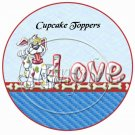 Love You Baby Puppy Dog Blue  ~  Cupcake Pick & Toppers ~ Set of 1 Dozen