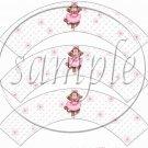 Pink Ballerina Monkey Birthday ~ Cupcake Wrappers ~ Set of 1 Dozen