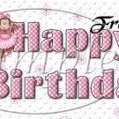 Pink Ballerina Monkey Birthday ~  Pint Glass Jar