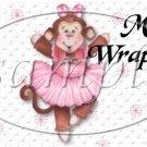 Pink Ballerina Monkey Birthday ~ MINI Candy Bar Wrappers