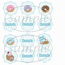 Coffee & Donuts  ~  Cupcake Pick & Toppers ~ Set of 1 Dozen