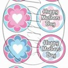 Happy Mother's Day Pink Retro  ~  Cupcake Pick & Toppers ~ Set of 1 Dozen