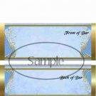 Gold Elegance ~ Blue #2 ~ Standard 1.55 oz Candy Bar Wrapper  SOE