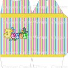 Jesus is Love Striped ~ TALL Gable Gift or Snack Box