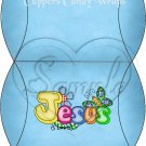 Jesus is Love  Blue ~ Pillow Treat Gift Box