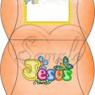 Jesus is Love  Orange ~ Personalizable  Pillow Treat Gift Box