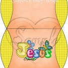 Jesus is Love  Orange with Yellow ~ Pillow Treat Gift Box